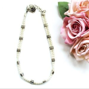 Brighton Double Strand Faux Pearl Necklace